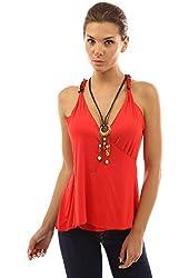 PattyBoutik Women's Unique Cross Back Necklace Hippie Top