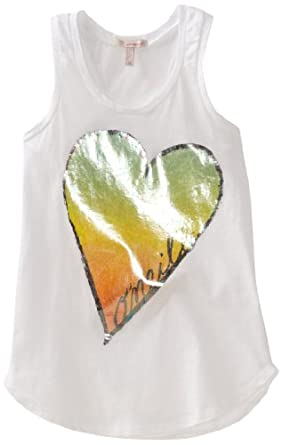O'Neill Big Girls' Heart Breaker Racerback Tank, White, Small