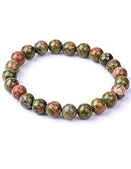 8MM Fashion Round Kinds Unakite Loose Beads Bracelets Jewelry Making Beads SL006A7