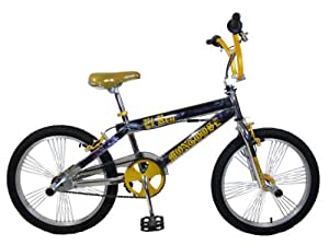 Mongoose EL Ray BMX Bike (Chrome/Gold, 20-Inch)