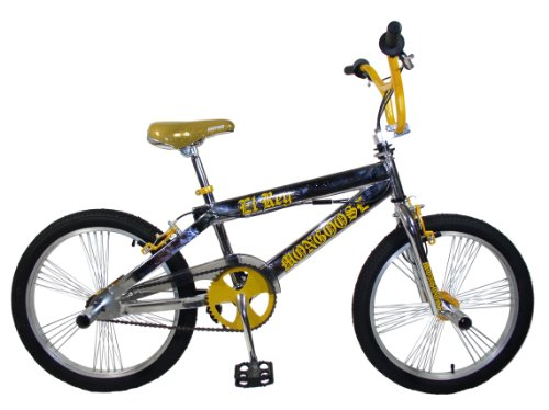 Mongoose EL Ray BMX Bike (Chrome/Gold, 20-Inch)