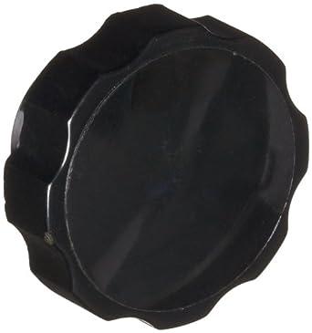 "DimcoGray Black Phenolic Fluted Torque Knob Female, Brass Insert: 5/16-18"" Thread x 7/16"" Depth, 1-3/4"" Diameter x 1-1/16"" Height x 1-1/16"" Hub Dia x 1/2"" Hub Length (Pack of 10)"