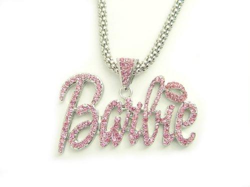 Nicki Minaj Barbie Necklace Large with Pink Stone