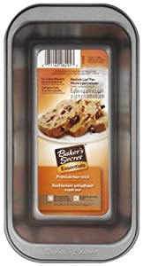 World Kitchen 1114434 Non-Stick Medium Loaf Pan, 8.5 x 4.39 x 2.24-In.