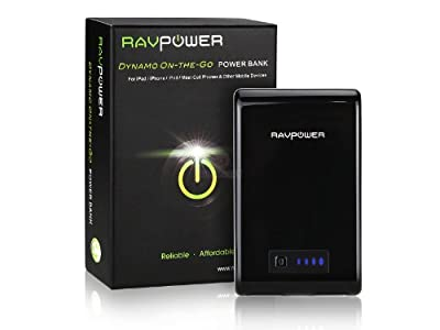 RVAPower Dynamo-On-The-Go Powered by Samsung Batteries 10400mAh 3.1A Dual Charging / 7800mAh 3.1A Dual Charging / 5200mAh With Built-in Flashlight External Battery/Power Bank, Fit for Android & Apple Device, Smart Phones, Tablets, PS Vita, GoPro; iPad min