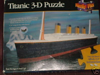 Cheap Telebrands Titanic 3-D 550 Piece Shaped Puzzle (B001UTT9QG)