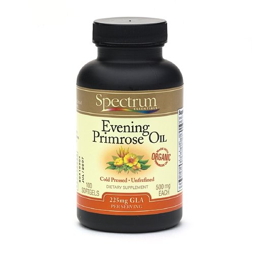 Spectrum Essentials Organic Evening Primrose Oil, 500Mg, Softgels 100 Ea