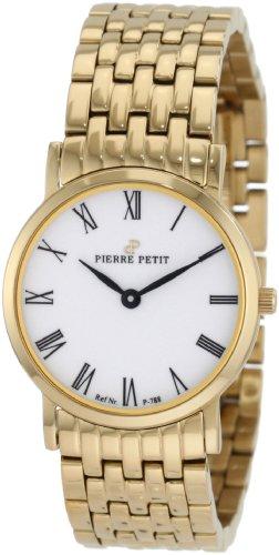 Pierre Petit P-788H - Reloj analógico de cuarzo para mujer con correa de acero inoxidable, color dorado