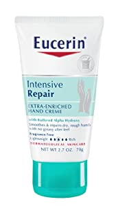 Eucerin Intensive Repair Extra-Enriched Hand Creme, 2.7 Ounce Tube (Pack of 4)