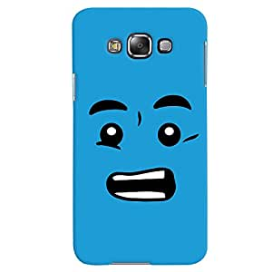 ColourCrust Samsung Galaxy E7 Mobile Phone Back Cover With Quirky Smiley - Durable Matte Finish Hard Plastic Slim Case