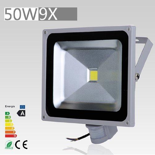 9 Pcs 50W Led Induction Pir Infrared Motion Body Sensor Flood White Lights Lamp 240V Ac Cool White