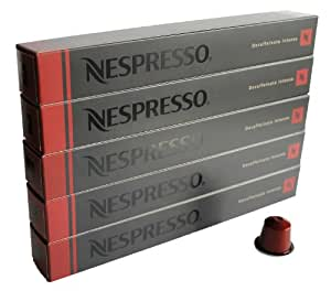 nespresso kapseln rot decaffeinato intenso espresso 5 stangen 10 kapseln 50 kapseln amazon. Black Bedroom Furniture Sets. Home Design Ideas