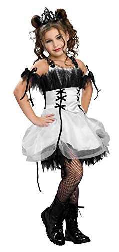 Gothic Ballerina Child Costume Black/White Small (4-6) Rubies Costumes Adult