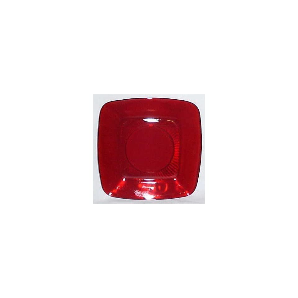 Ruby Red Fire King Charm Luncheon Plate Anchor Hocking Glass Company