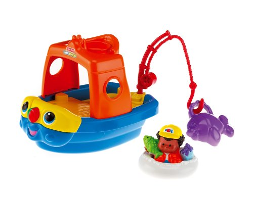 Mattel M1281 - Fisher-Price Little People Lil Movers Fischerboot
