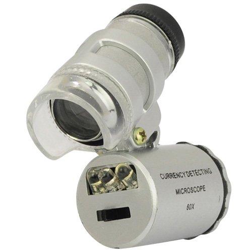 Outdoor Lighting Spotlights For Home Mini Microscope: Forrader® 60X Mini Pocket Microscope Loupe With UV