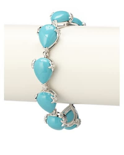 CZ by Kenneth Jay Lane Turquoise Tennis Bracelet