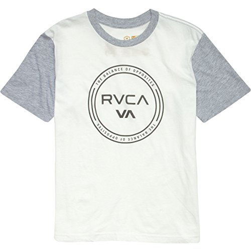 Rvca Boys' Circuit Color Block T-Shirt Vintage White/Athlet Medium front-1031429