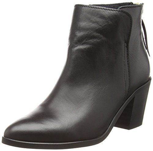 PIECESPSDOLLY LEATHER BOOT BLACK - Stivaletti classici non imbottiti, corti Donna , Nero (Nero (nero)), 40 EU