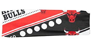 Chicago Bulls Stretch Patterned Headband (Please see item detail in description) by W2B