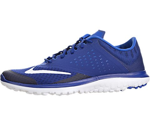 New Nike Men's FS Lite Run 2 Running Shoe Deep Blue/White 13 (Nike Shoes Blue compare prices)