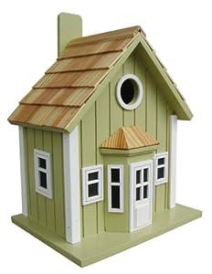 Home Bazaar Parkside Cottage Birdhouse, Green