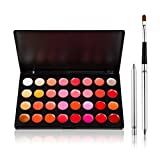 Chinatera Pro 32 Color Lip Gloss Kit with Lip Brush