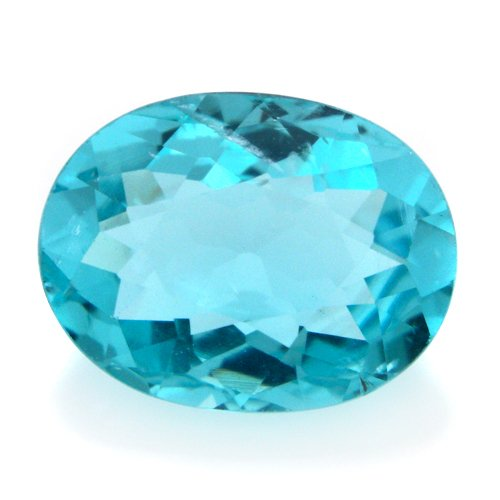 Natural Blue Apatite Loose Gemstone Oval Cut 6*7mm 1.3cts VS Grade Amazing