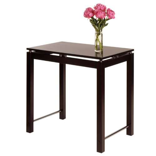 Cheap Linea Kitchen Island Table with Chrome Accent (B005U6N0CO)