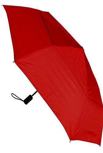 COLLAR AND CUFFS LONDON - Ombrello Pieghevole - FORTE - Antivento - Automatico Apri e Chiudi - Doppio Telo Per Combattere I Danni Causati Da Ribaltamento - Compatto - Caramella Rossa - Rosso