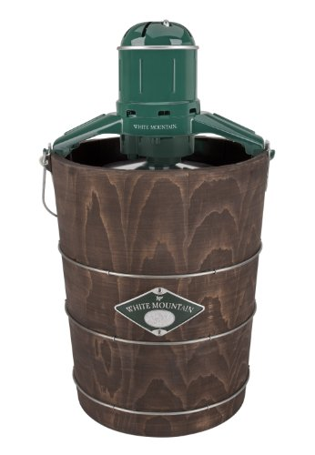 White Mountain Pbwmime612-Shp Appalachian Series Wooden Bucket 6-Quart Electric Ice Cream Maker