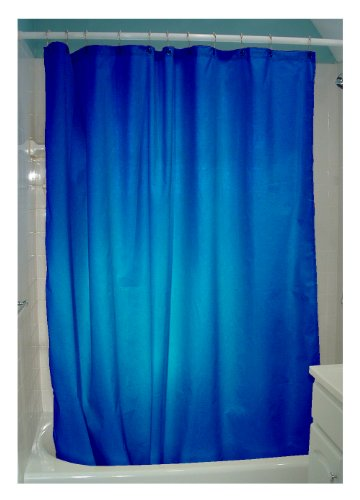 Cloth Shower Curtain Liner Indigo Blue Shower Curtain