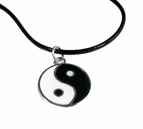 Yin Yang Pendant Leather Necklace Festival Lucky Protection - 1