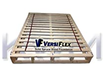 "Hot Sale VersiFlex® Mattress Boxspring Foundation - King 8"". Ideal for memory foam, latex, and air mattresses."