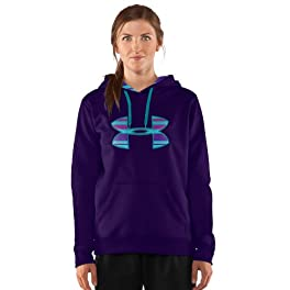 Women's Armour Fleece Storm Printed Big Logo Hoody Tops by Under Armour