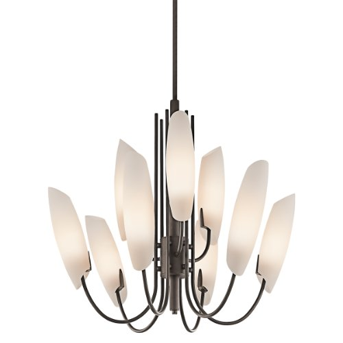 Kichler Lighting 42213OZ Stella 9-Light Chandelier, Olde Bronze with Satin-Etched Cased Opal Glass