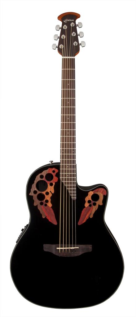 ovation ce44 5 acoustic electric guitar black musical instruments. Black Bedroom Furniture Sets. Home Design Ideas
