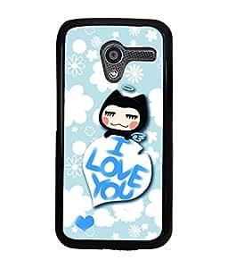 Printvisa 2D Printed Love Designer back case cover for Motorola Moto X- D4593