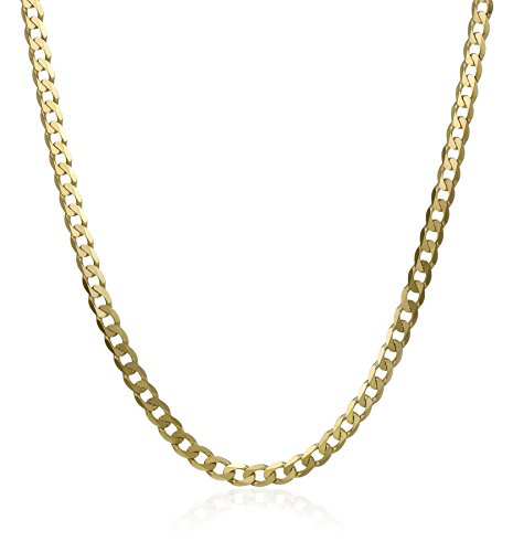 Men'S 14K Yellow Gold 2.2Mm Cuban Chain Necklace, 18""