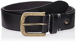 WAC Men's Leather Belt (8907222328832_Medium_Black)