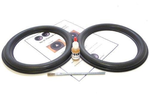 "Audioque 10"" Tall Roll Subwoofer Foam Surround Repair Kit - Sd2 Audioq Aq - 10 Inch"