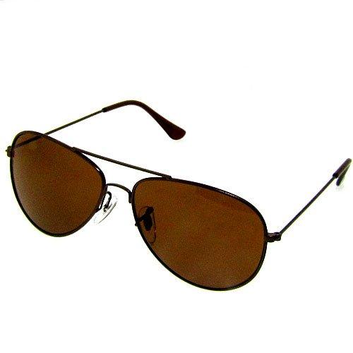 Aviator Pilot Sunglasses with Brown ladies mens women s fashion uv400 metal new