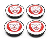 4 CHROME RED JAGUAR ALLOY WHEEL CENTRE CAPS BADGES EMBLEM 57MM XK XK8 XKR XJ XJ8 XJR XJ6 XF X S TYPE X300 PART NUMBER 8W93-1A096