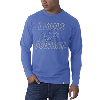 NFL Detroit Lions Retro Logo Long Sleeve Flanker Tee by