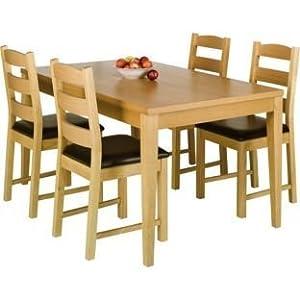 ex argos winslow real oak veneer wood dining table 150cm