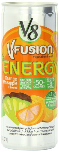 V8 V-Fusion Orange Pineapple Energy Drink, 8 Ounce Cans (Pack Of 24)
