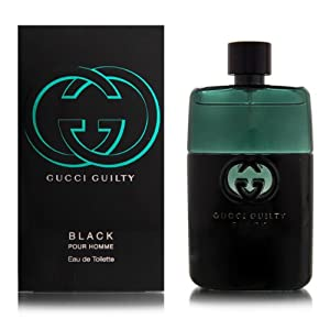 Gucci Eau de Toilette Spray for Men, Guilty Black Pour Homme, 1.6 Ounce