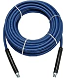 "1/4"" x 50' Blue Carpet Cleaning Solution Hose 3,000 PSI"