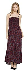 Sera Women's Dress (LA2282-Burgandy-M, Brown, Medium)