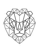 ZZ-Ambiance-sticker Vinilo Decorativo Design Lion Origami
